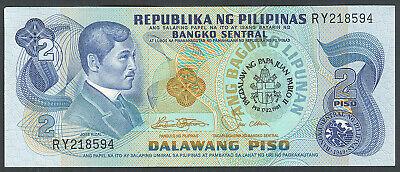 P-166 Philippines 2 Piso UNC 1981