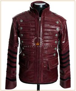S8691 German Brigadier Black Men/'s New Military Hooded Cowhide Leather Jacket