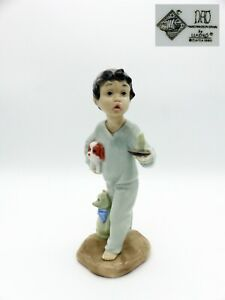 Nao-by-Lladro-Figure-Boy-with-Candle-Dog-and-Teddy