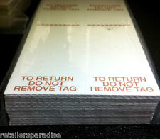 """100pk POPULAR """"DO NOT REMOVE TAG"""" RETAIL STORE PRICE TAGS FOR QUALITY CLOTHING"""