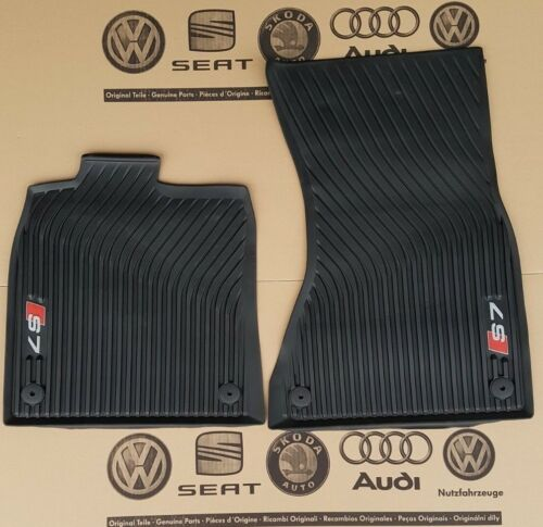 Audi A7 original S7 Sportback Fußmatten Gummimatten vorne Gummifußmatten vorn