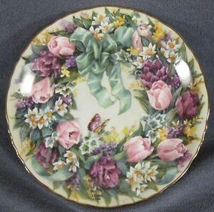 Circle-Of-Beauty-Collector-Plate-Lena-Liu-Floral-Greetings-Bradford-1995