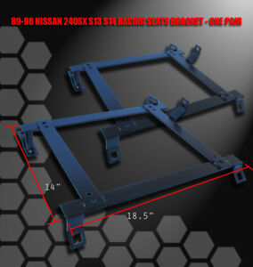 RACING-SEAT-MOUNTING-BRACKETS-FOR-89-98-240SX-SILVIA-S13-S14-DRIVER-PASSENGER