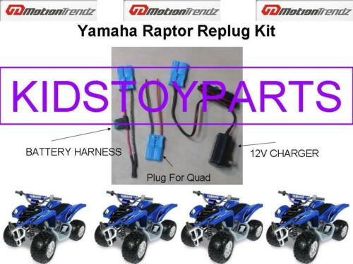 YAMAHA RAPTOR BATTERY REPLUG KITS 4 KIDS RIDE ON TOYS USE ON ALL 12V RIDE ONS!
