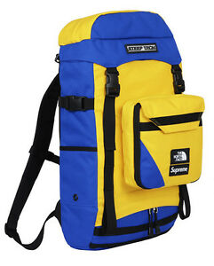 20b942f28 Details about Supreme North Face Steep Tech Royal Yellow Backpack TNF Box  Logo Limited