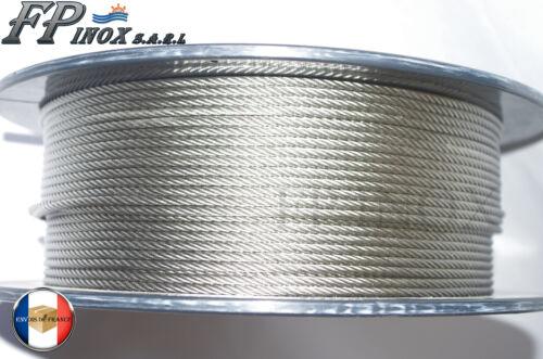 Embout sertir inox 316 Chape 5 mm Longueur 100mm Ref A513S05