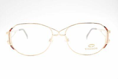 100% Vero Vintage Titanos T-789 56 [] 17 140 Oro Rosso Ovale Occhiali Montatura Nos-mostra Il Titolo Originale