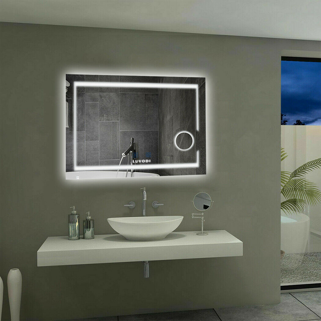 Picture of: Wall Mounted Bathroom Mirror 3x Magnifying Backlit Dimmer Led Light Touch Switch For Sale Online