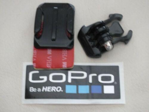 GO PRO HERO 3 4 5 6 7 8 CURVED 3M HELMET MOUNT PLUS QUICK RELEASE CLIP STICKER