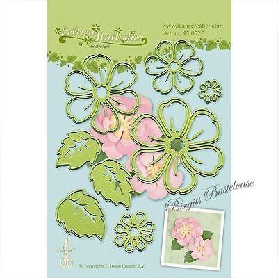 Leane Creatief 8x Stanzschablone Blumen Blätter Flower 45.0577