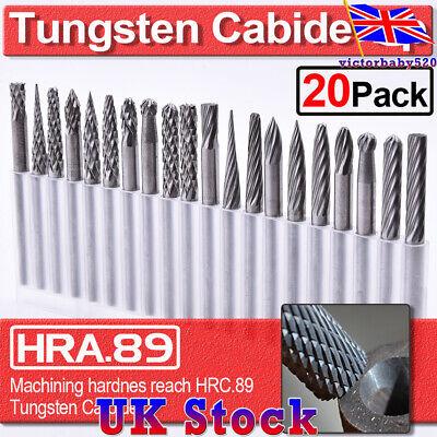 20PCS Rotary Burr Bit Tungsten Carbide Point Die Grinder Shank Carving Set Tools