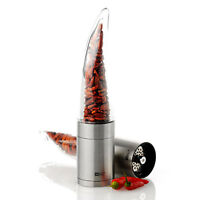 AdHoc Pepe Stainless Steel & Acrylic Dried Chile Cutter Grinder Mill Kitchen
