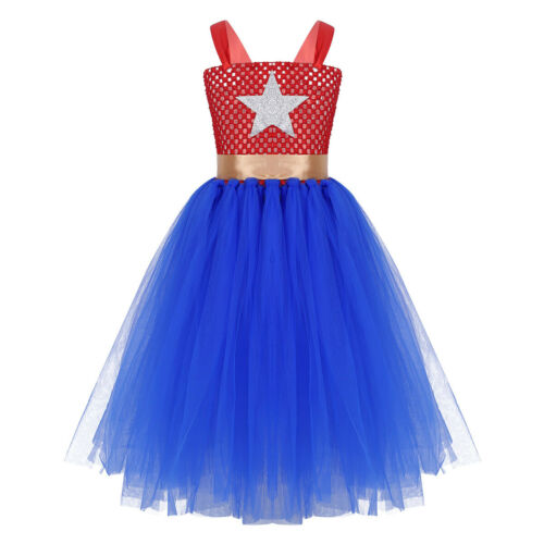 Girls Kids Princess Halloween Cosplay Fancy Dress Book Day Theme Party Costume