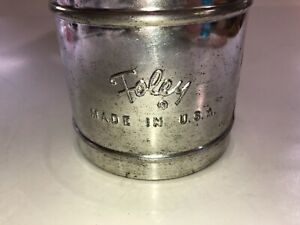 Vintage-Foley-USA-Flour-Small-Metal-Sifter-See-Pics-Great-Decor