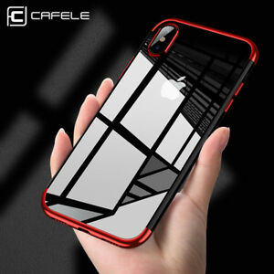 For-iPhone-X-Xs-Max-Xr-8-Shockproof-Plating-Clear-Slim-Hybrid-Bumper-Case-Cover