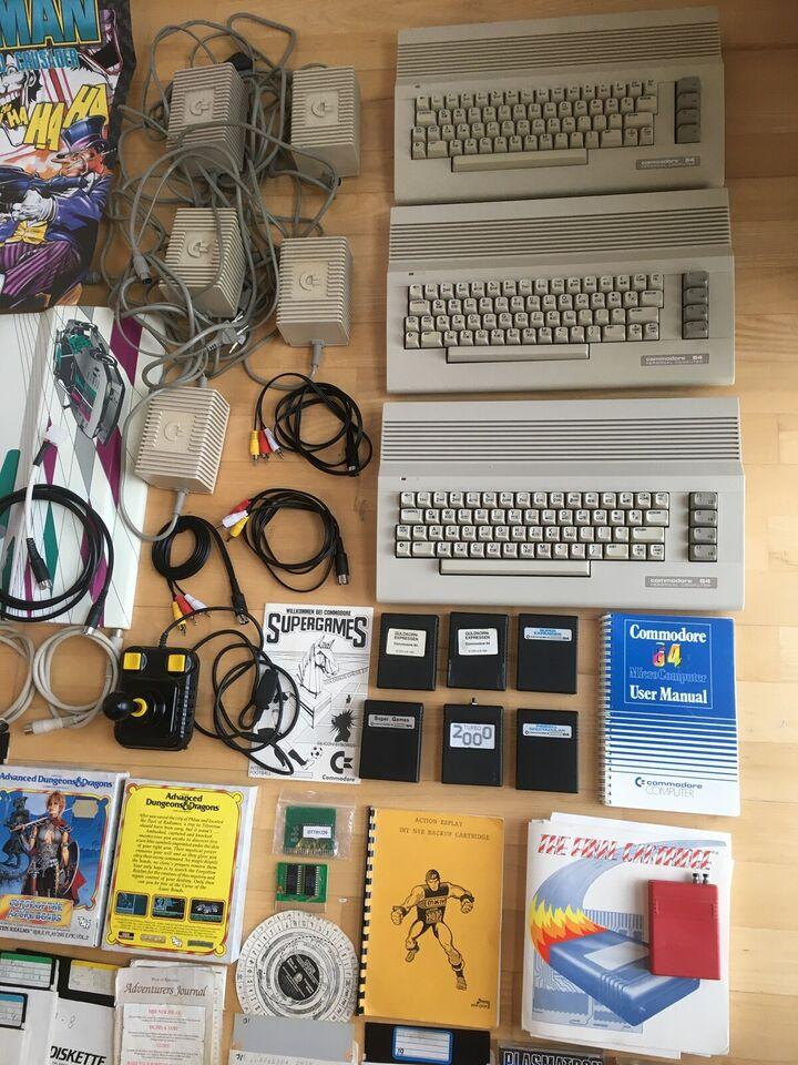 Dejlige Commodore 64 samling med 4 computere mm. ,
