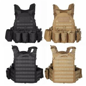 Tactical-Military-Adjustable-1000D-Molle-Plate-Carrier-Combat-Vest-with-Plates