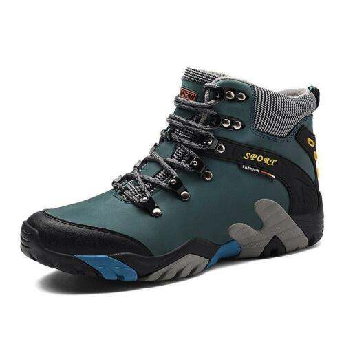 Waterproof Mens Hiking Ankle Boots Outdoor Trail Sport Climbing Fur Shoes Winter