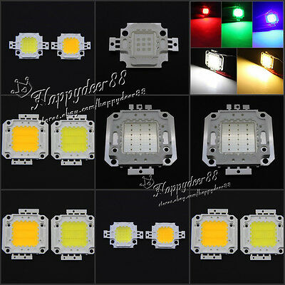 10W Cool Warm White RGB Yellow 30Mil DC 9-11V High Power LED Light Lamp SMD Chip