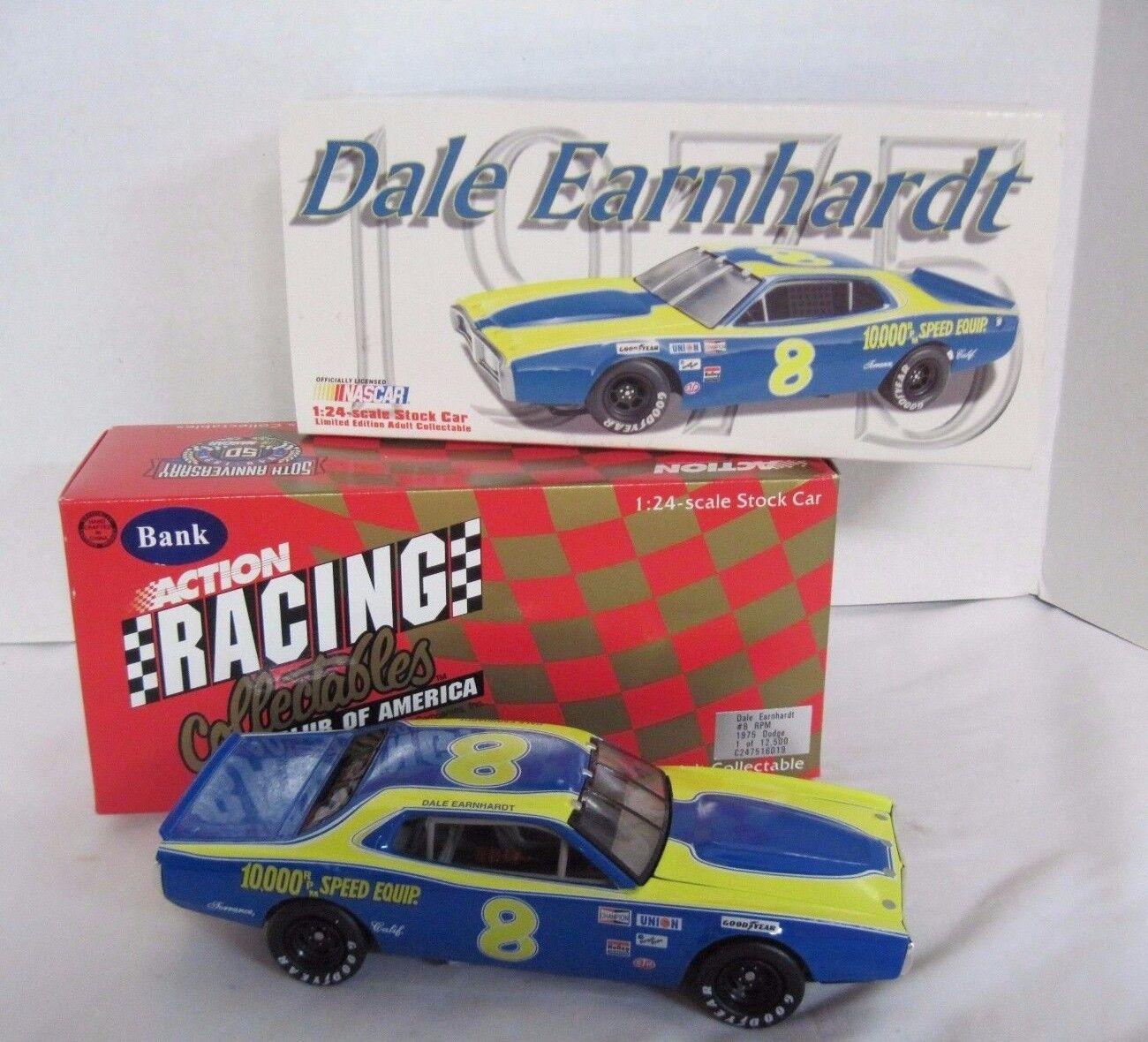 Action Racing Dale Earnhardt RPM RPM RPM Dodge 1 24 Diecast Car & Coin Bank 4e0a92