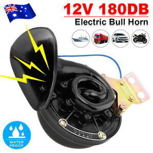 Loud-180DB-Car-Air-Horn-12V-Electric-Snail-Horn-Raging-Sound-For-Boat-Truck-NEW