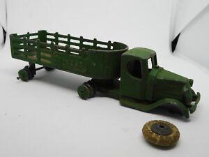 1933 Tootsietoy,, No.801 Camion de pieu Mack Express À Restaurer