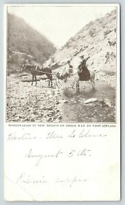 New-Mexico-Presbyterian-Lady-Missionaries-on-Way-to-Plaza-Horses-Creek-1901-PMC