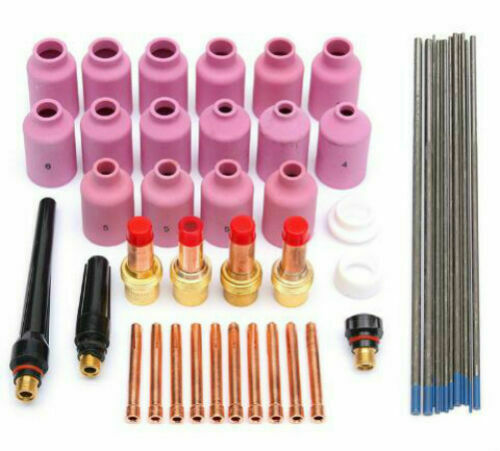 TIG Welding Consumables Gas Lens Collets Body Fit WP17 18 26 TIG Torches Sets
