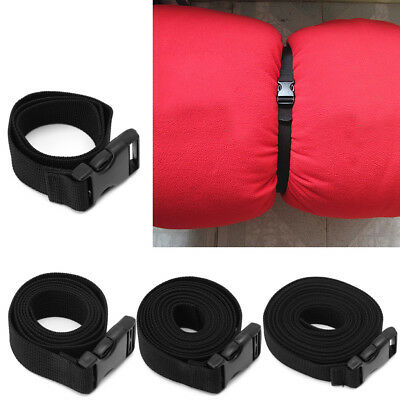 Travel Tied Backpack Luggage Outdoor Sleeping Bag Long Lash Strap Release Buckle
