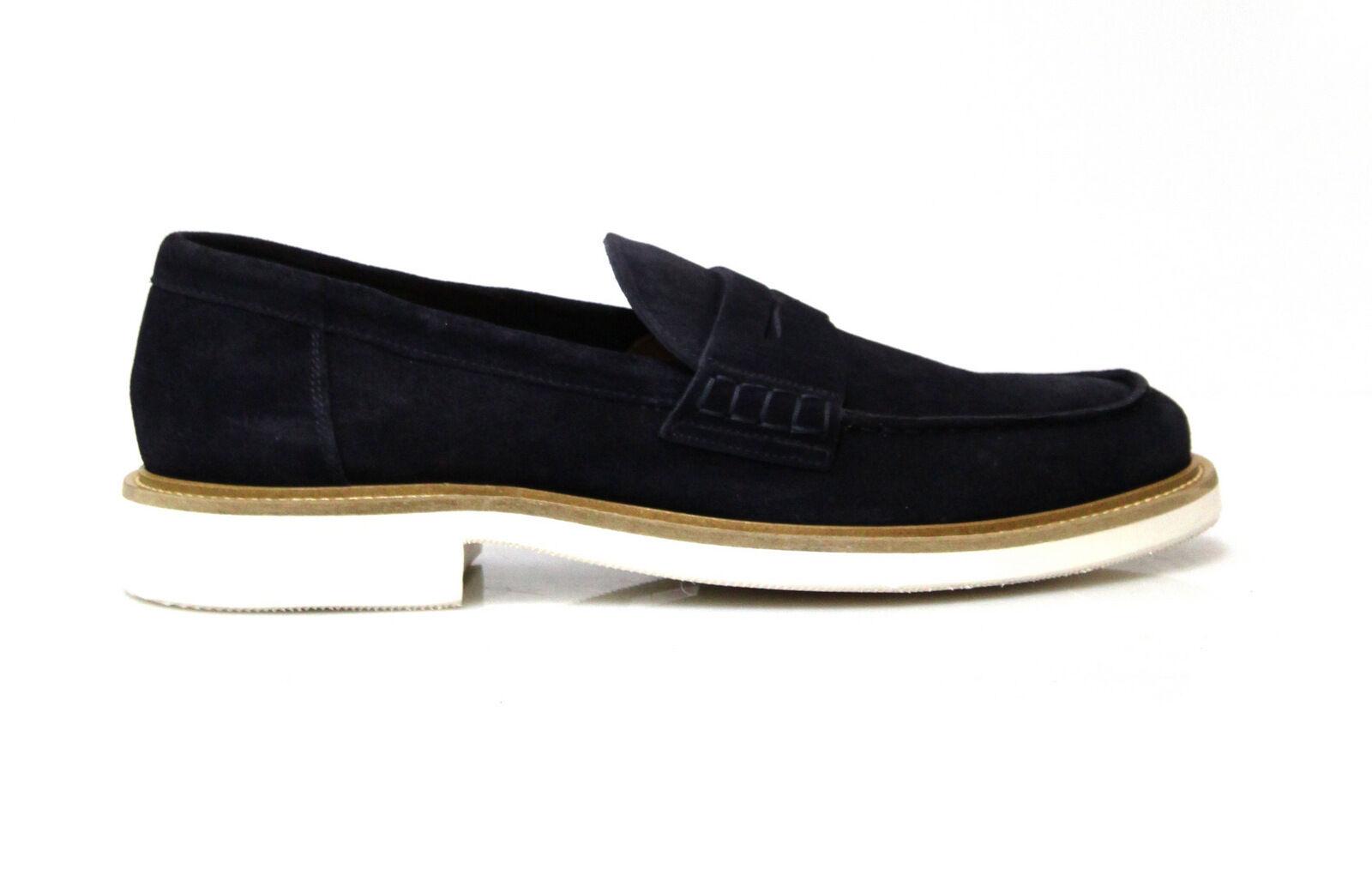 zapatos  - 50% DOUCAL'S hombres 1006US azul PP 100% pelle suola gomma