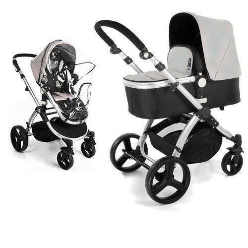 Baby Sonnenschirm Kompatibel mit Hauck Maxan Grau