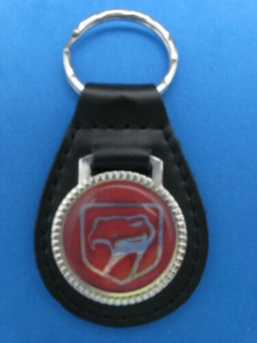 DODGE VIPER AUTO LEATHER KEYCHAIN KEY CHAIN RING FOB #217 A