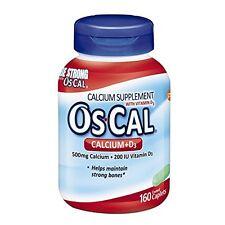 OsCal Calcium + D Supplement, Sodium Free, 160 count Each