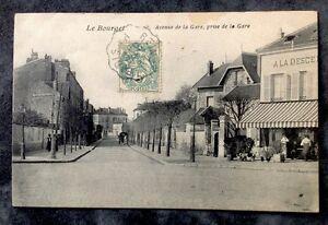 CPA-LE-BOURGET-93-Avenue-de-la-Gare-prise-de-la-Gare-1907
