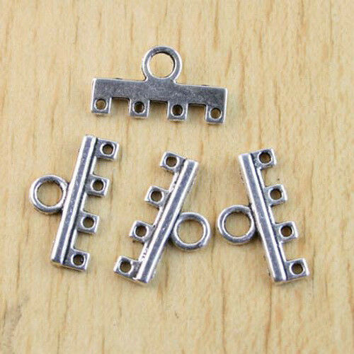 24pcs Tibetan Silver 4-to-1 Connectors Findings H1210