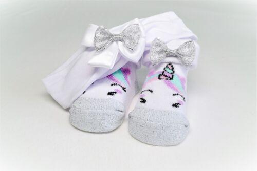 Baby Girls Unicorn Socks And Headband New Baby Shower Christening Gift shoes