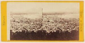 Napoli-Vista-Generale-Italia-Foto-Stereo-Th1L6n1-Vintage-Albumina-c1869