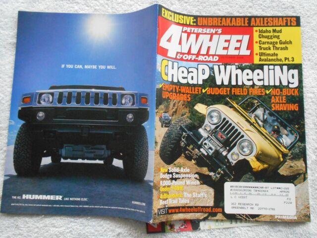 PETERSEN'S 4 WHEEL & OFF-ROAD Magazine-OCTOBER,2003-CHEAP