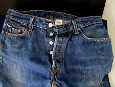 LEVI STRAUSS 501  Button Fly Denim Jeans Men's 36 x 32 inches washed look