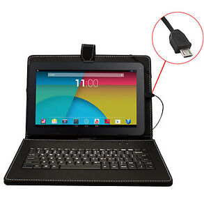 10-1-Inch-Black-Leather-Keyboard-Case-Micro-USB-Tablet-PC-allwinner-Android-10