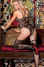 Luxurious S-L 8-12 Floral Bodysuit BNWT Catsuit Bodystocking Lingerie Lace