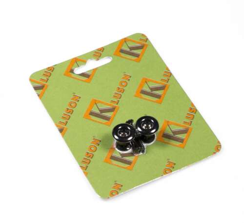 Kluson California Custom strap button set Black set of 2