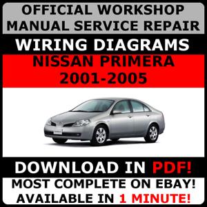 official workshop service repair manual for nissan primera 2001 2005 rh ebay co uk Nissan Primera 2000 Model Nissan Primera P10