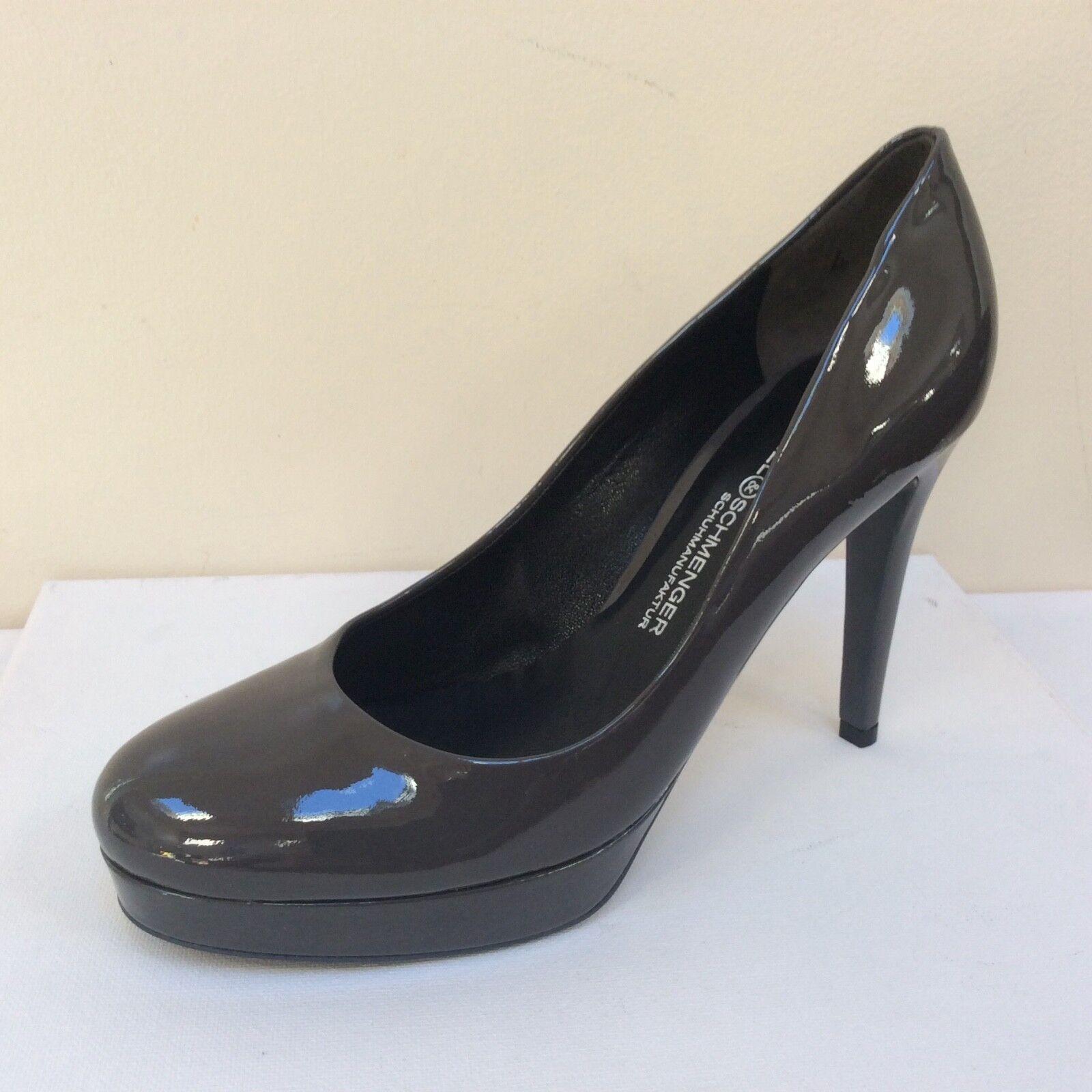 K&S Sheyla dark gris patent platform courts, UK 4 EU 37,   BNWB