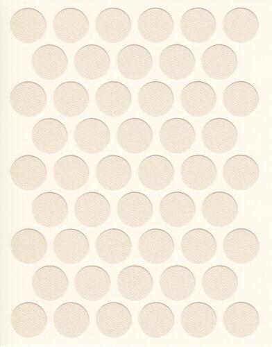 50 Self Adhésif PVC coller sur les meubles autocollant trou de vis couverture Caps 14 couleurs