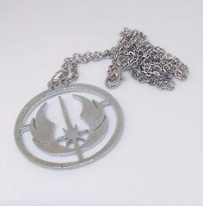 Star-Wars-Jedi-Necklace-Pendant-Silver-coloured-UK-SELLER