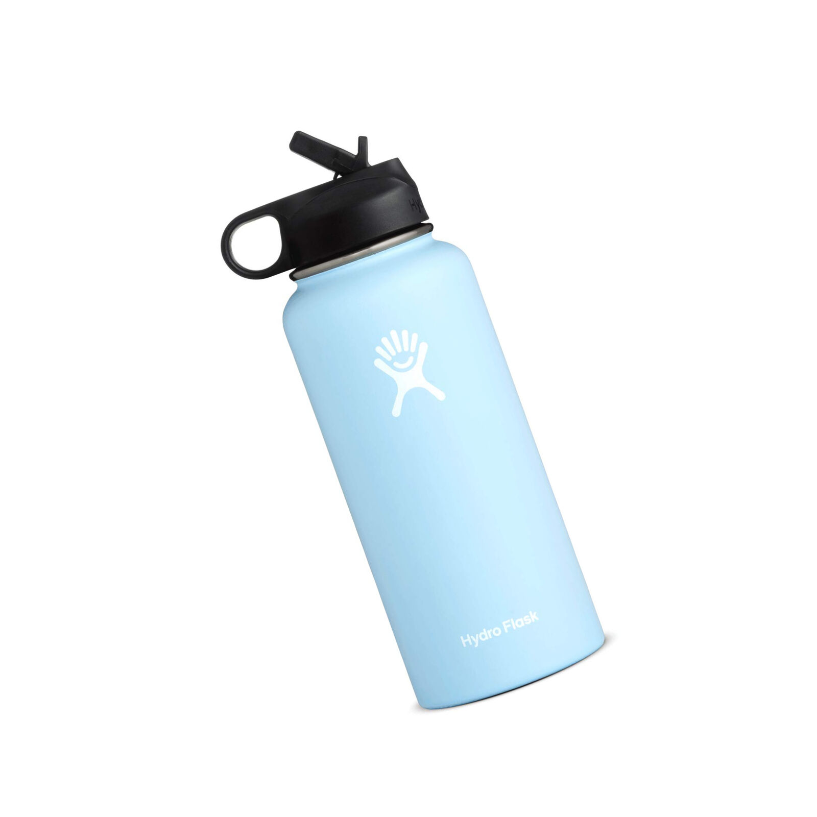 Water Bottle Flask w Straw Lid Wide Mouth Stainless Steel calienteCold 32Oz Frost