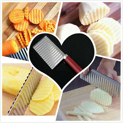 Stainless Steel Potato Vegetable Crinkle Wavy Potato Chip Cutter Cooking Tools