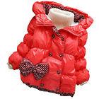 Automne Hiver Mode Manteau Polaire Enfant Fille Veste à Capuche Manches Longues