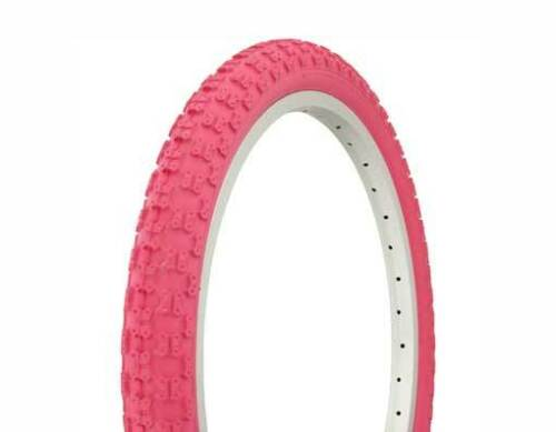 "Two 2  DURO Tires 20 x 2.125/"" BIKE BICYCLE  Tires pink//pink side Wall 35 PSI"